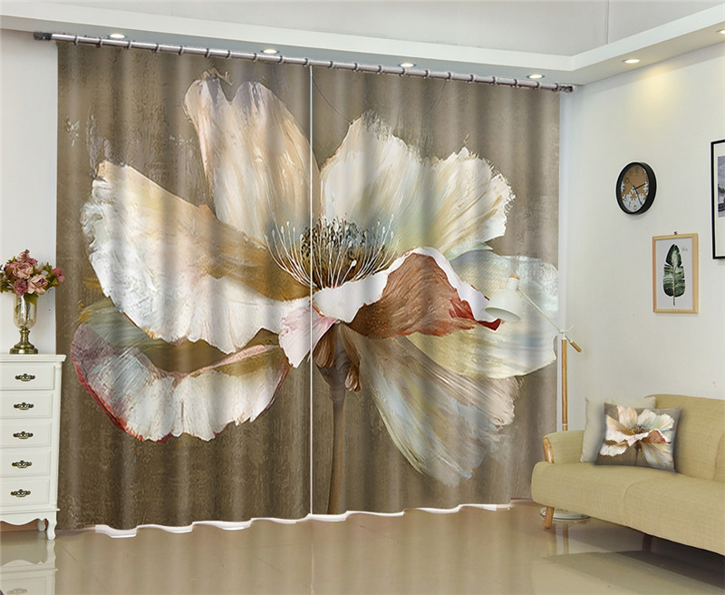 3d Window Curtains Blackout For Living Curtain Room Bedroom