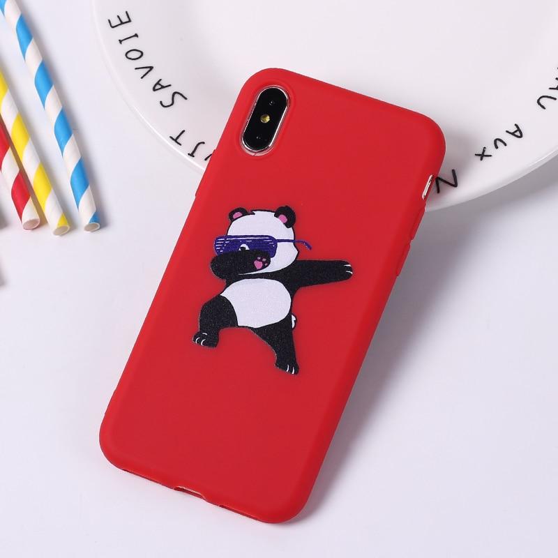 Cute Cartoon Panda Dab Swag On Soft Silicone Phone Case Coque Fundas For Iphone 11 Pro 7 7plus 6 6s 6plus 5 5s 8 8plus X Xs Max
