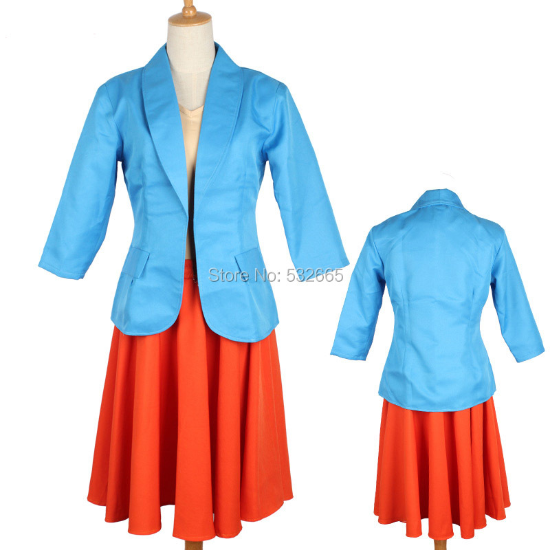 Cos ZOOTOPIA Dawn Bellwether Cosplay Costume Sheep Cosplay Cos Female Movie  Suit Daily Blue Coat Orange Skirt Yellow T shirt-in Anime Costumes from  Novelty ... e33d419011f3