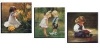 3 предмета c Книги по искусству Ун фигура холст спандекса современные стены Книги по искусству декоративная картина для детской комнаты укр...