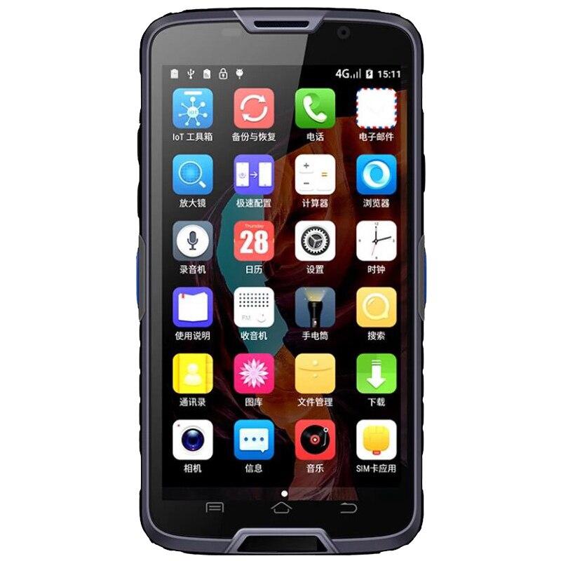 5 pouce android 6.0 4g LTE 2D code à barres de poche terminal