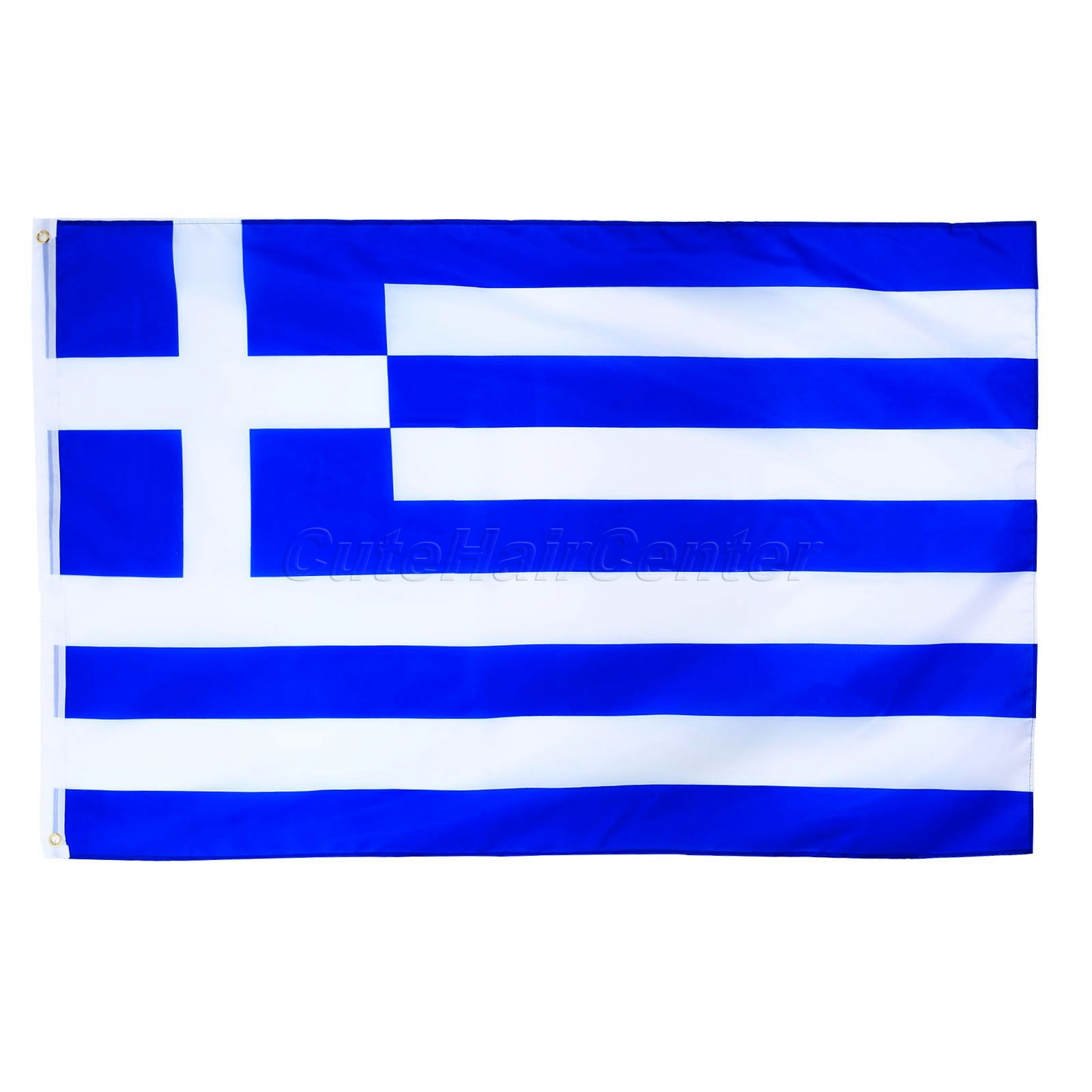 Greece National Flag Greek Hellenic State Country Banner Super-Poly Hanging Indoor/Outdood Country Banner <font><b>90*150</b></font> Polyester image