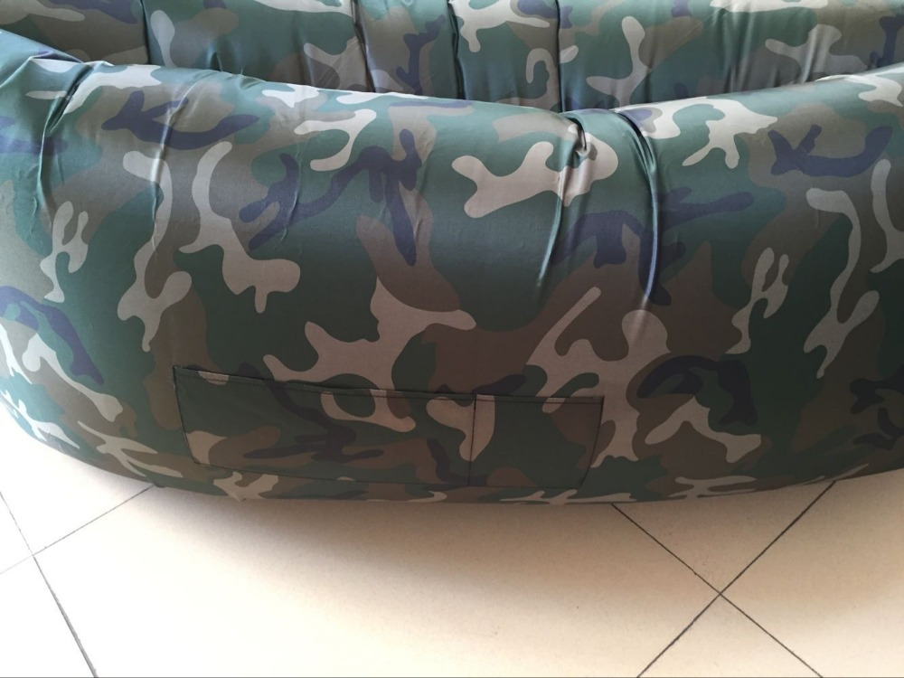 1pc Camouflage Bed Ten Seconds Inflatable Air Bag Laybag Lazy Sofa Hangout  Beach Chair Sleeping Bag With Free Gift In Sleeping Bags From Sports ...