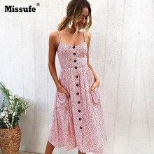 Strap V Neck Summer Dress Women Sunflower Print Backless Party Dress Casual Vestidos High Waist Midi Female Beach Dresses 2018