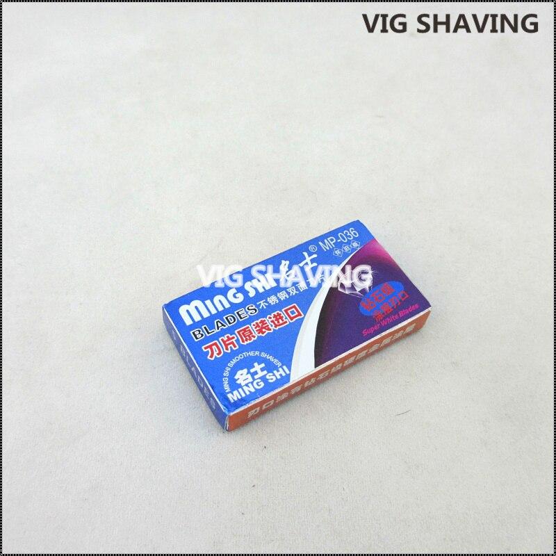 100pcs/lot 5pcs Per Small Box Double Edge Safety Razor  Mingshi Blade