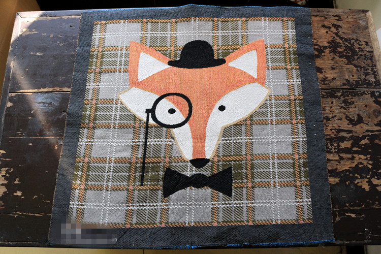 Stoffen Voor Kussens : 50x50 cm mr. vos en ms. vos katoen linnen jacquard stoffen voor