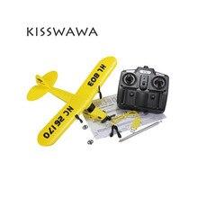 KISSWAWA RC Plane HL-803 Foam Remote Control Plane 2CH RC Plane 150m Control Distance Drop Shipping HuaLe HL803 PIPER J3