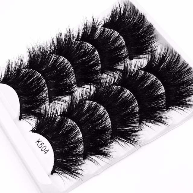 NEW 5 pairs 22mm-25mm 3D False Eyelashes Fake Lashes Long Makeup 3D Mink  Lashes Eyelash Extension Mink Eyelashes Beauty Makeup