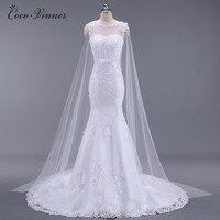 C V Vestidos De Noiva Vestido De Casamento See Through Mermaid Wedding Dresses Sash Beaded Bride