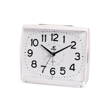 POWER  Ultra-quiet Digital Alarm Clock Quartz Snooze Stopwatch Movement Alarm Clocks Timer Silent Desktop Table Clock White/Gray