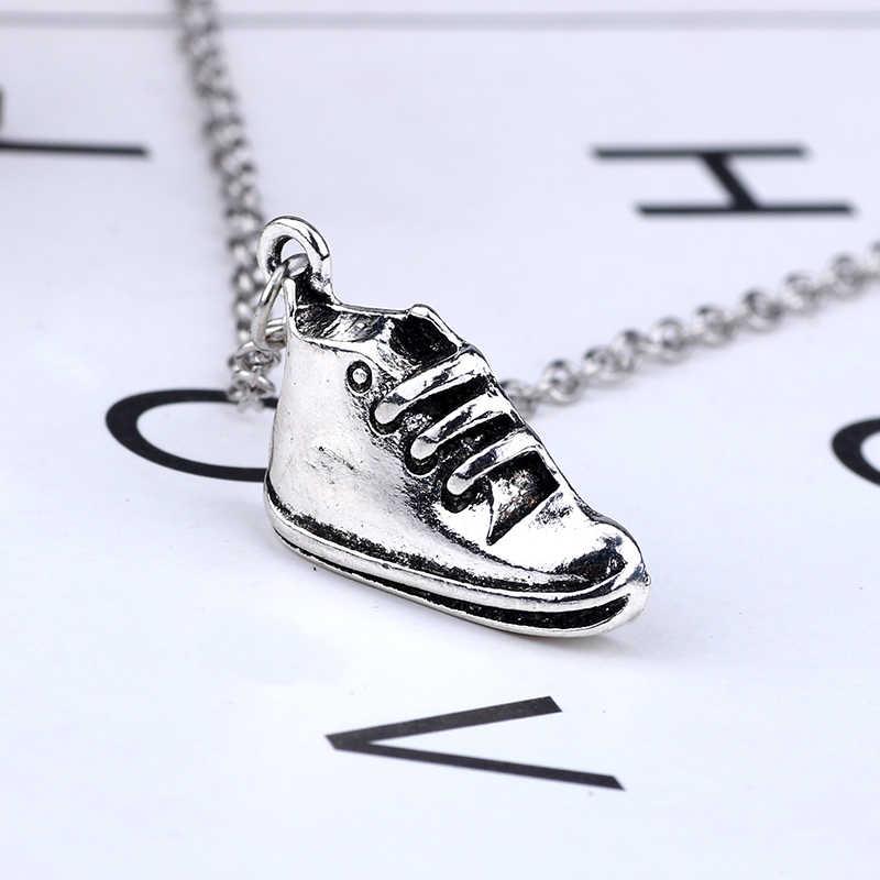 Hiphop Sportschoenen Hanger Ketting Voor Vrouwen Mannen Punk Zilveren Metalen Schoen Choker Sieraden Geschenken Voor Mode Jongens Meisjes Collier