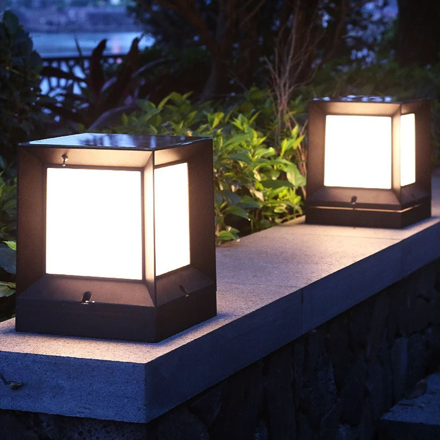 Us 29 77 25 Off Thrisdar Outdoor Garden Solar Pillar Light Lamps Waterproof Villa Courtyard Gate Stigma Wall Lamp Fence Post Cap In