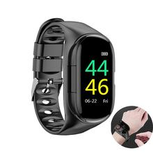 M1 Smart Watch Earphones Bluetooth Android Smartwatches For Men Women Heart Rate Monitor Sport Color Display Smart Wristbands M1 цена и фото