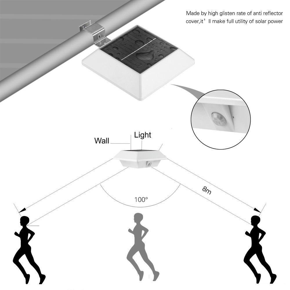 4 pcs 6 Movido A Energia Solar