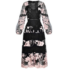 Patchwork Embroidery Midi Sleeve