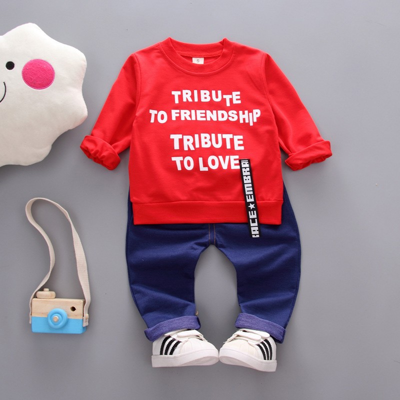 Kids Autumn Clothes Fashion Letter Printed Girl T-shirt Set Casual Children Clothing Boys Winter Clothes For Kids baby clothe kids autumn clothes fashion letter printed boys t shirt set casual children clothing girl winter clothes for kids baby clothing