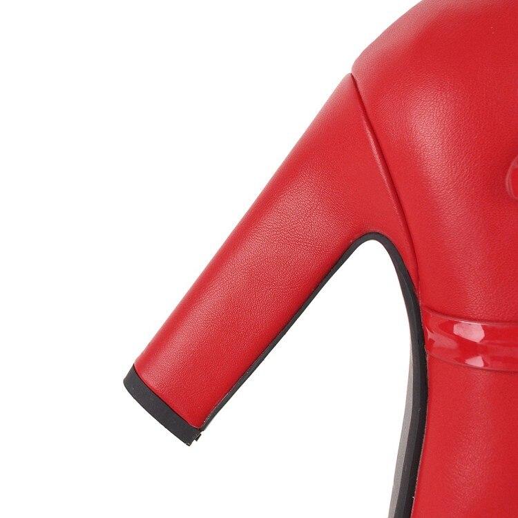 Du Strass Éclair Nouvelle De Chaude Bottes pu Mariage black Genou Mode Suede 2018 Rond Suede Boucle Et Bout Chaussures Noir Fermeture Avec rouge 7wS0qaW