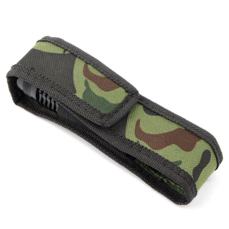1Pc 16cm Durable Protector For Flashlight Torch Lamp Oilproof Waterproof Camouflage Holster Fabric Holder Case Belt Pouch