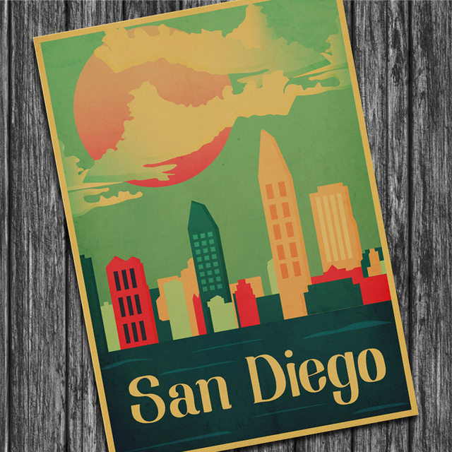 Missouri Kansas City Vintage Poster Kraft Paper Wall Sticker Art ...