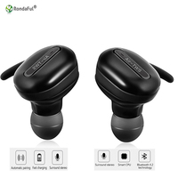 Wireless Bluetooth 4.1 Earbuds Hidden Invisible Earpiece Micro Mini wireless Headset Bluetooth Earphone Headphone for Phone mp3