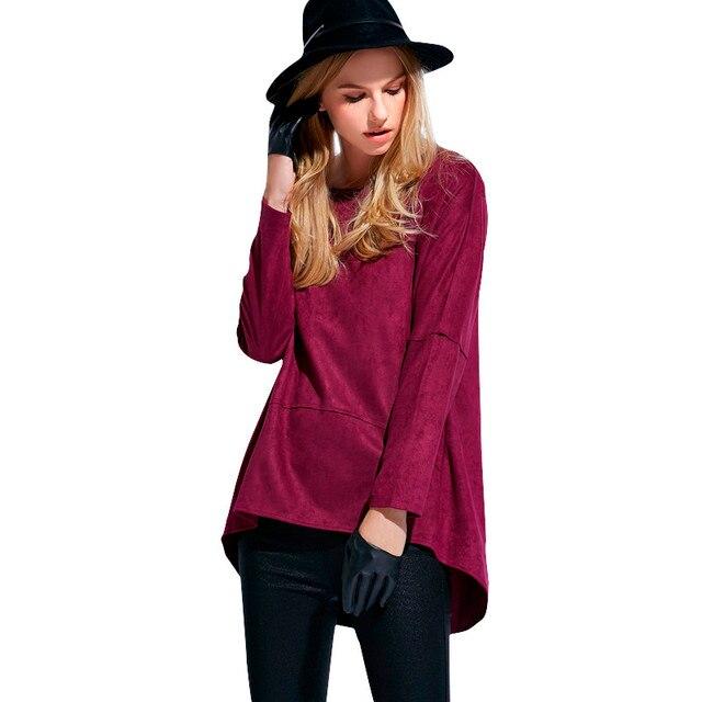Overhemd Xl.Xl 4xl Vrouwen Overhemd Herfst Winter Dames Suede Basic Blouse Mode