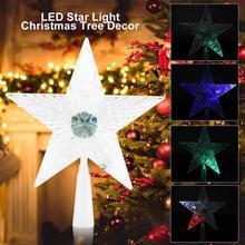 navidad Christmas Tree Star LED Light Christmas Tree Ornament Light Lamp Christmas Tree Ornament Decoration luces led decoracion