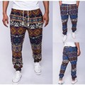 New Brand 2016 Mens Retro Cotton Linen Men Harem Casual Plus Size Pants Trousers Males Hip Hop Floral Flower Printed Pants