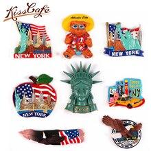 Creative Famous Landmark America 3D Fridge World Travel Souvenirs Refrigerator Magnetic Stickers Home Decortion Gifts