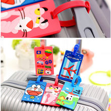 Silicone Cute Travel Luggage Label Straps Suitcase Name ID Address Tags Luggage Tags Airplane Accessories PA878803(China)