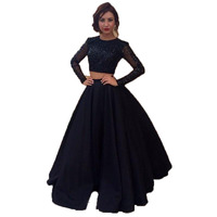 Elegant Black Long Skirts Women Custom Made Formal Evening Party Skirt Vintage Satin A Line Lolita