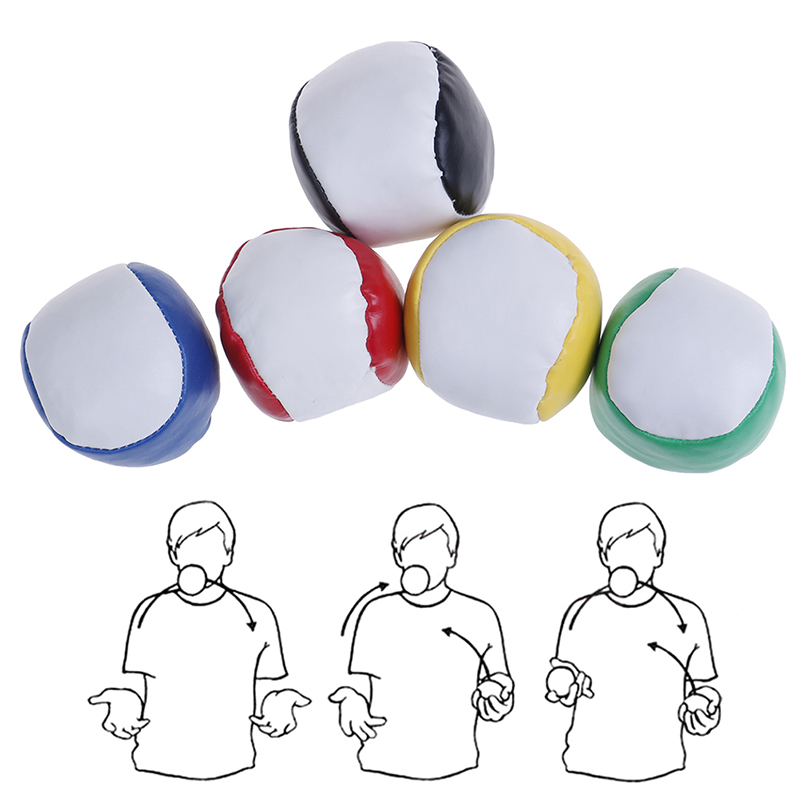 2019 PC Juggling Balls Set Classic Bean Bag Juggle Magic Circus Beginner Children Kids Toy Balls Kids Interactive Toys
