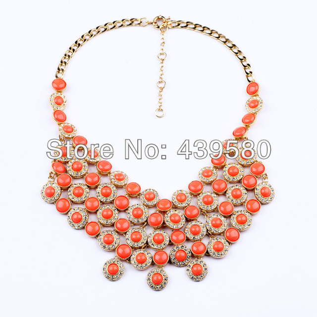 Latest Imitation Jewelry Qingdao Factory for Summer Coral Coins Chokers Necklace