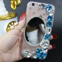 XINGDUO DIY Diamond Bling For Samsung Galaxy S8 Phone Case Mirror Rhonestone Case For Galaxy S7