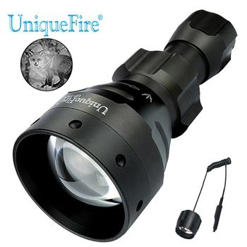 UniqueFire Lantern 1504 940nm Wavelength LED Flashlight Night Vision By Nake Eyes Zoom 3 Modes Torch with Remote Pressure Switch