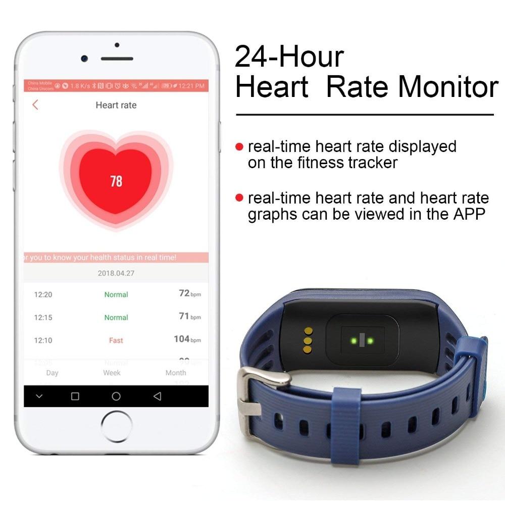 New Fitness Tracker K1 Smart Bracelet Real-time Heart Rate
