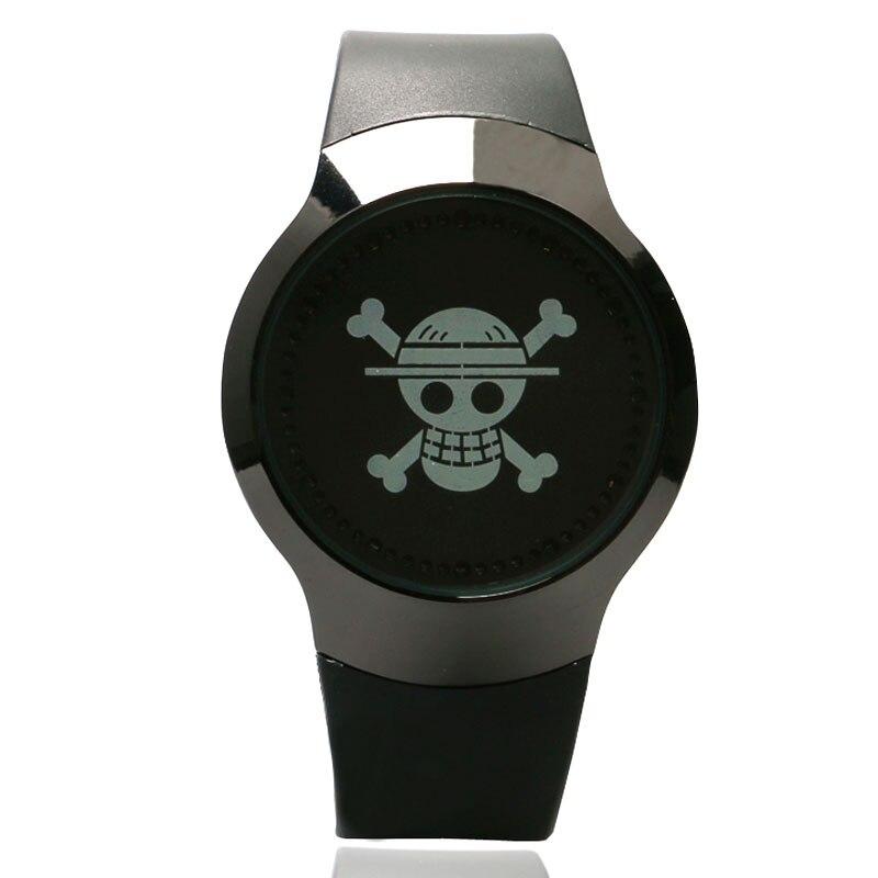 Watches Cool Touch Screen Led Wrist Watch Brand New Skull Dial Pattern 2016 Men Women Sport Watch