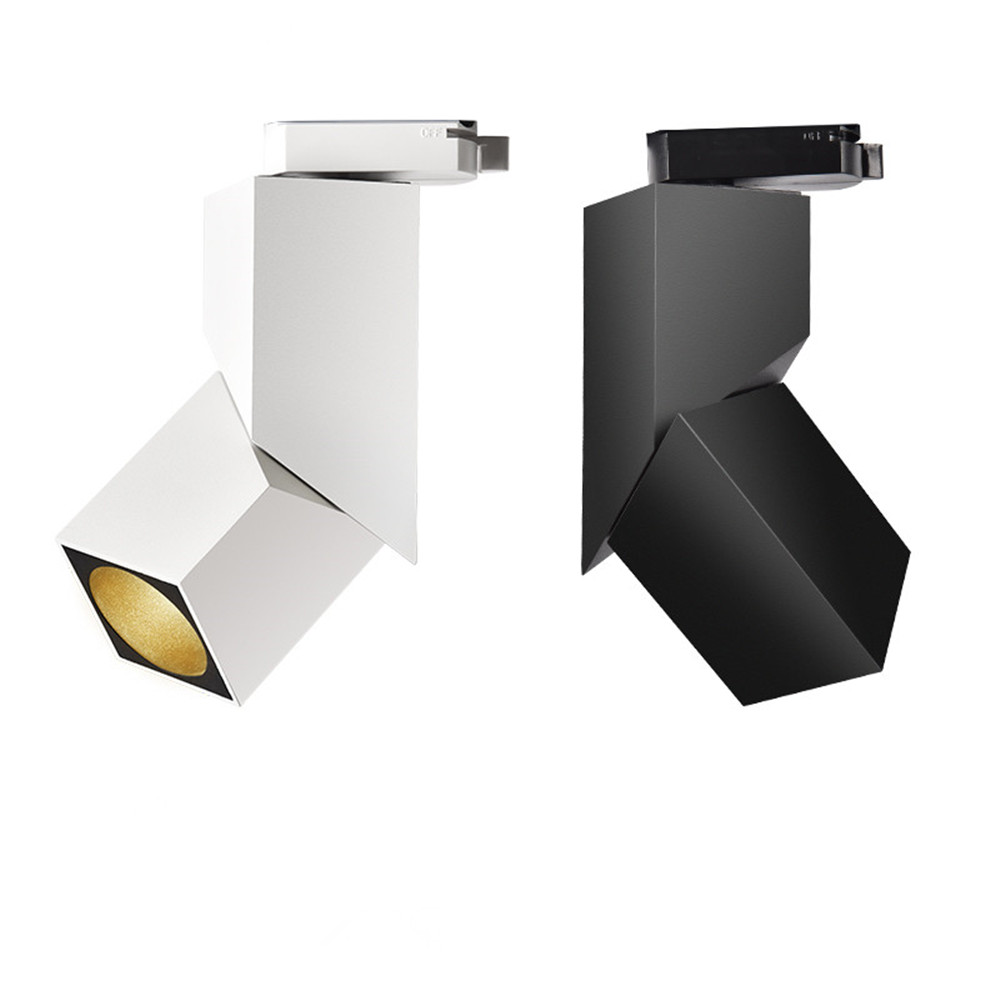Moden Art Cube 7W 12W 15W CREE Led Track Light Adjustable Angle Rail Lamp Backdrop Lighting Fixture Spot Lighting
