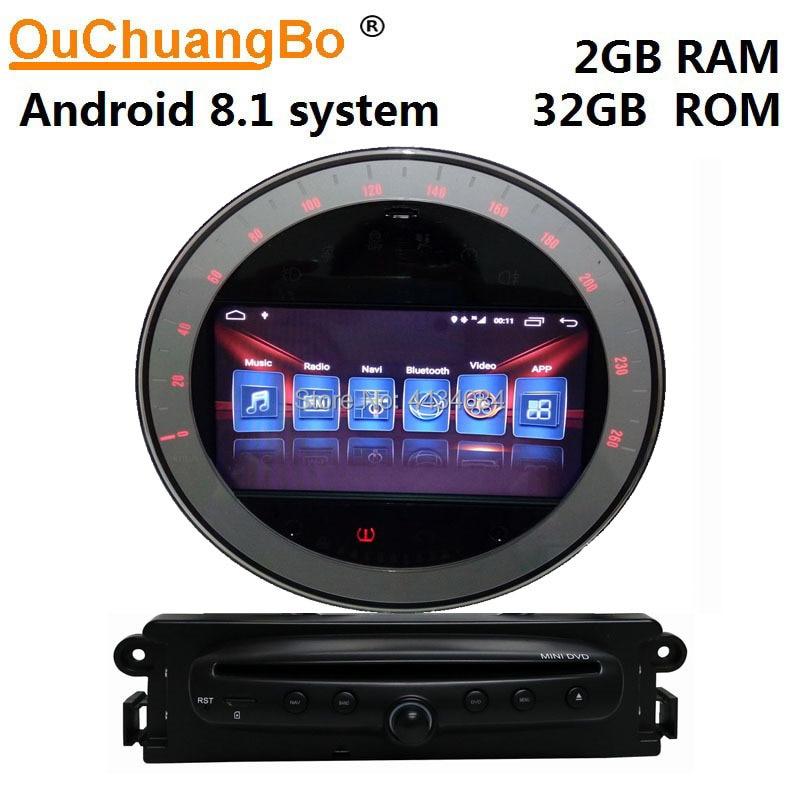 Ouchuangbo voiture gps radio stéréo navi unités de tête pour Mini R58 R56 2006 ~ 2013 noir support 4 core 1080 P android 8.1 OS