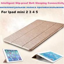 Case for iPad Mini 4 3 2 5 Case PU Leather Silicone Soft Back Trifold Stand Sleep Smart Cover for iPad Mini 2 5 2019 Case Funda