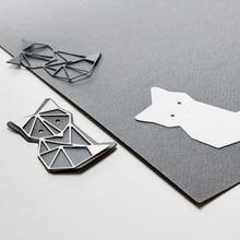 Origami Cat Metal Cutting Dies for DIY Scrapbooking Photo Album Paper Cards Making Decorative Crafts Supplies 2019 New Diecuts