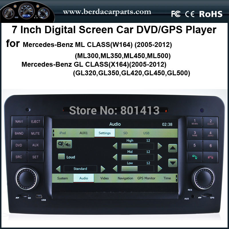 Car DVD/GPS player for Mercedes-Benz ML W164 Benz GL X164(2005-2012) 2016 brand new instrument display for mercedes mb ml w164 gl x164 r300 r350 r500 w251