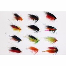 Tigofly 12 Pcs Assorted Tube Fly Set For Salmon Trout Steelhead Fly Fishing Flies Lures Set