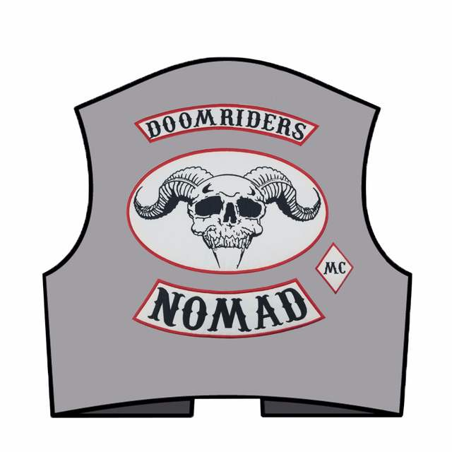US $20 0 20% OFF|4PCS/SET OUTLAW DOOMRIDERS BIKER MC COLORS 1%er PATCH  VINTAGE REAL ORIGINAL MOTORCYCLE CLUB VEST SEWING DIY Apparel -in Patches  from