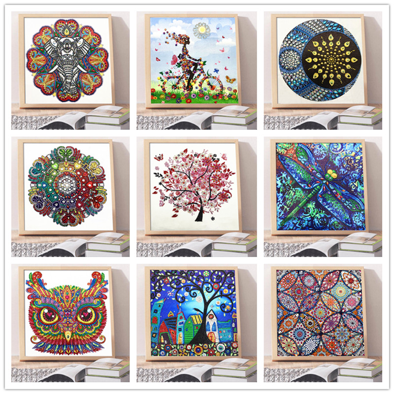 New special shape diamond painting phantom flower combination modern pattern DIY 5D part drill cross stitch kit crystal art(China)