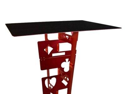 Tableau pliant magique en alliage d'aluminium-couleur rouge tours de magie magicien meilleur accessoire d'illusions de scène de Table facile à transporter - 4