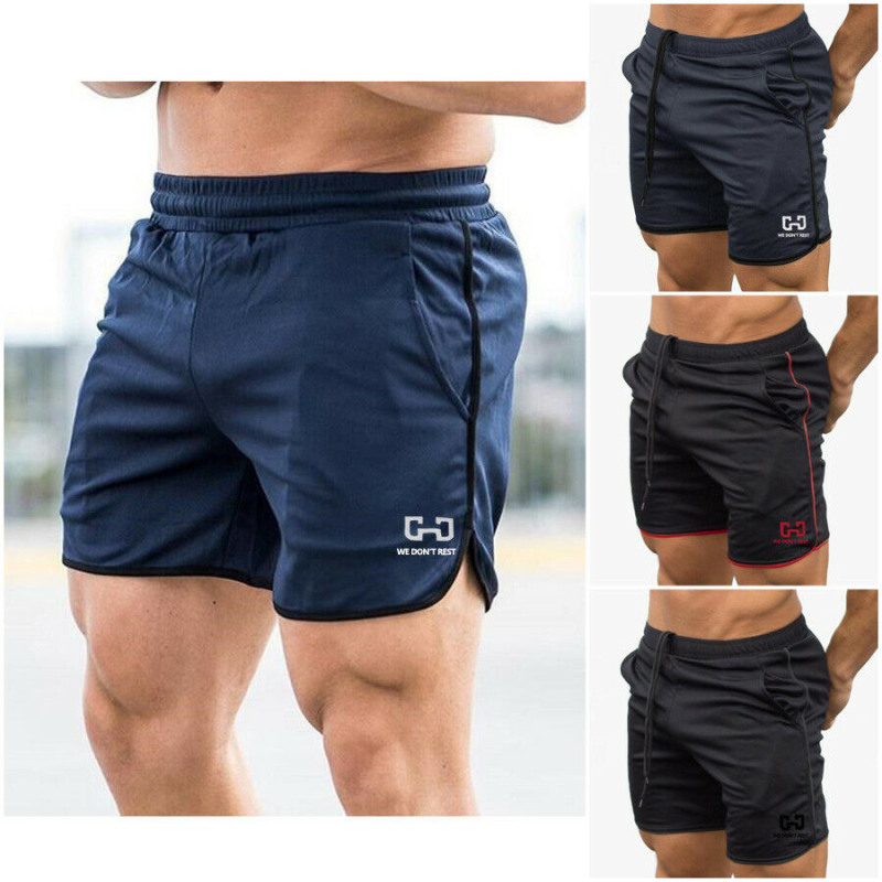 2019 Summer Mens Running Shorts Gym Training Shorts Workout Sports Casual Clothing Jogging Quick Dry Men Shorts Fitness