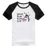 Shuh Duh Фух чашки с коротким рукавом Повседневная Для мужчин Для женщин футболка Удобная футболка красивые топы с принтом модные футболки нов...
