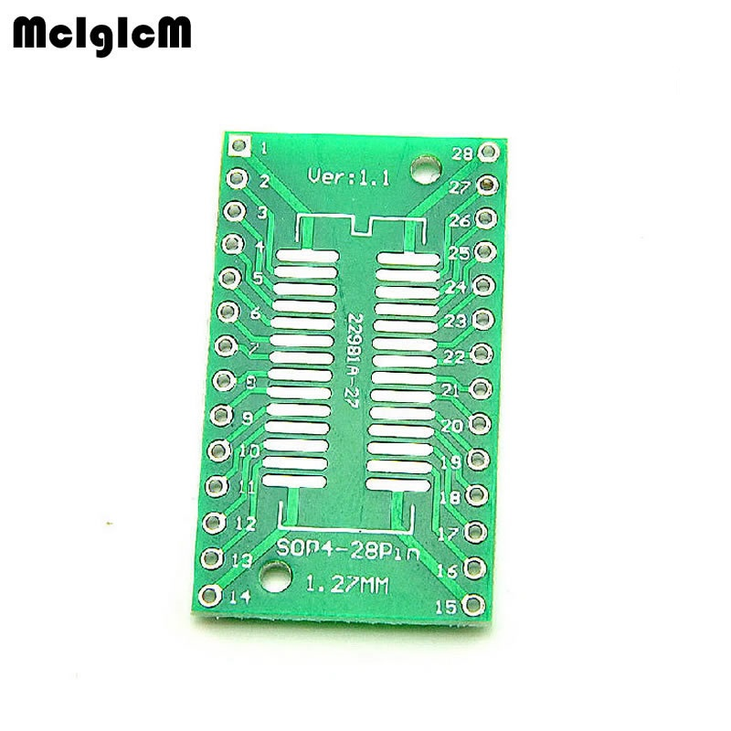 500PCS TSSOP28 SSOP28 SOP28 SMD to DIP28 IC Adapter Converter Socket Board Module Adapters Plate 0.65mm 1.27mm Integrate-in Single-Sided PCB from Electronic Components & Supplies    1
