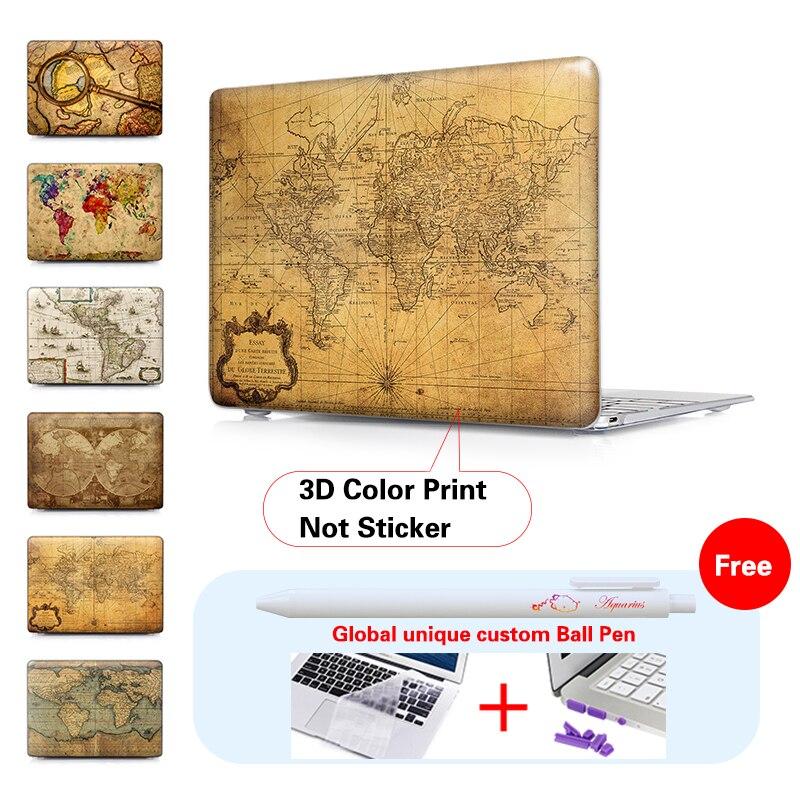Gammal världskarta Crystal Hard Case För Macbook Air 11 Air 13 Pro - Laptop-tillbehör - Foto 4