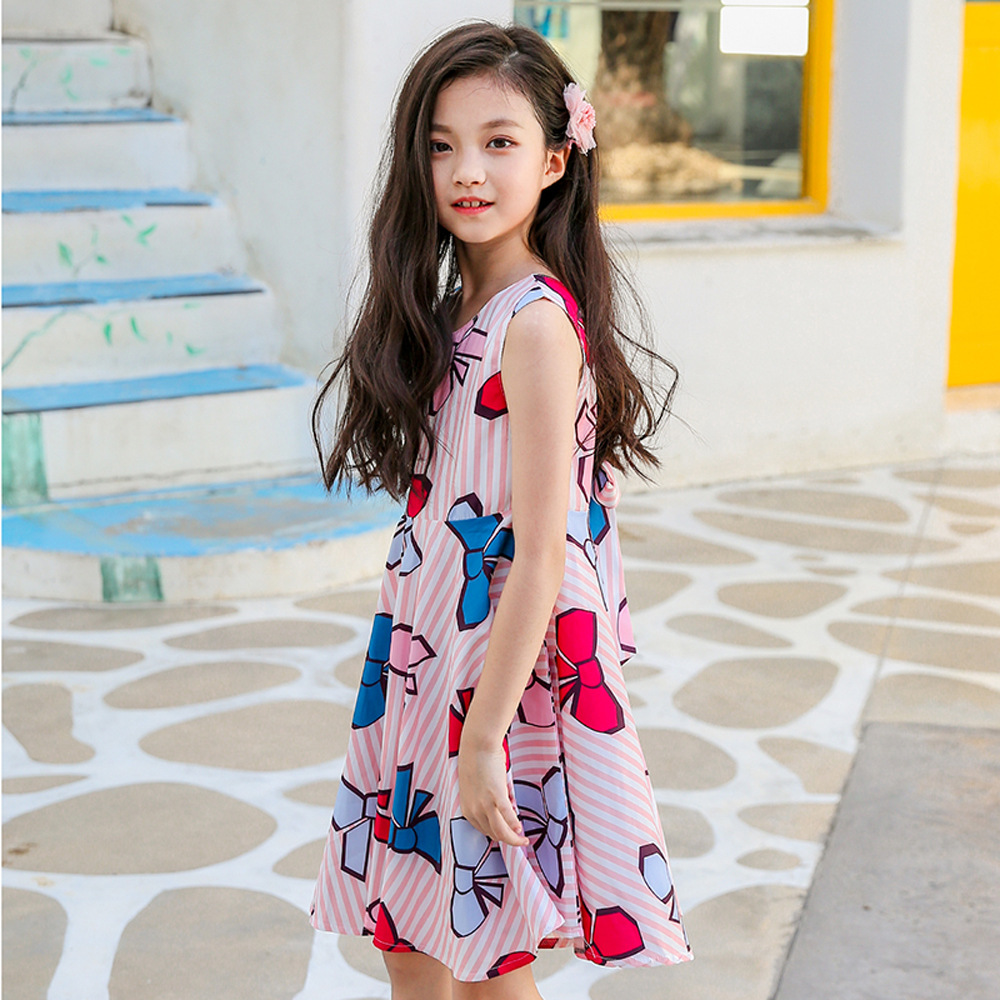 luoyamy 2018 New Design Summer Toddler Baby Girl Clothing Casual Bow Print Princess  Dress Backless Vestidos For Girls -in Dresses from Mother   Kids on ... 35c622186321